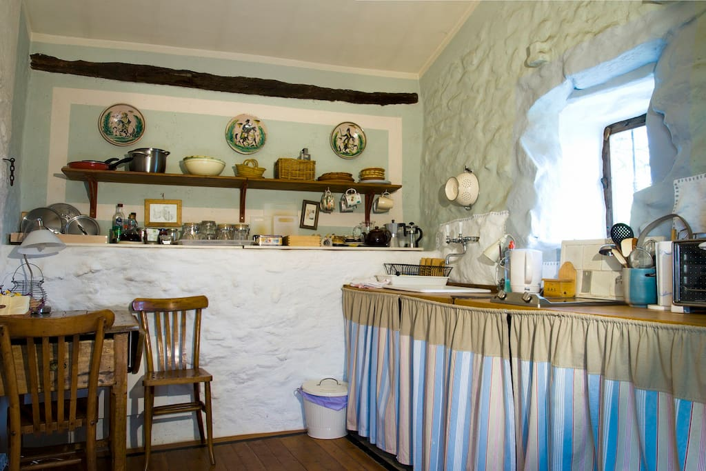 The Rustic kitchen is simple and will have everything you need...