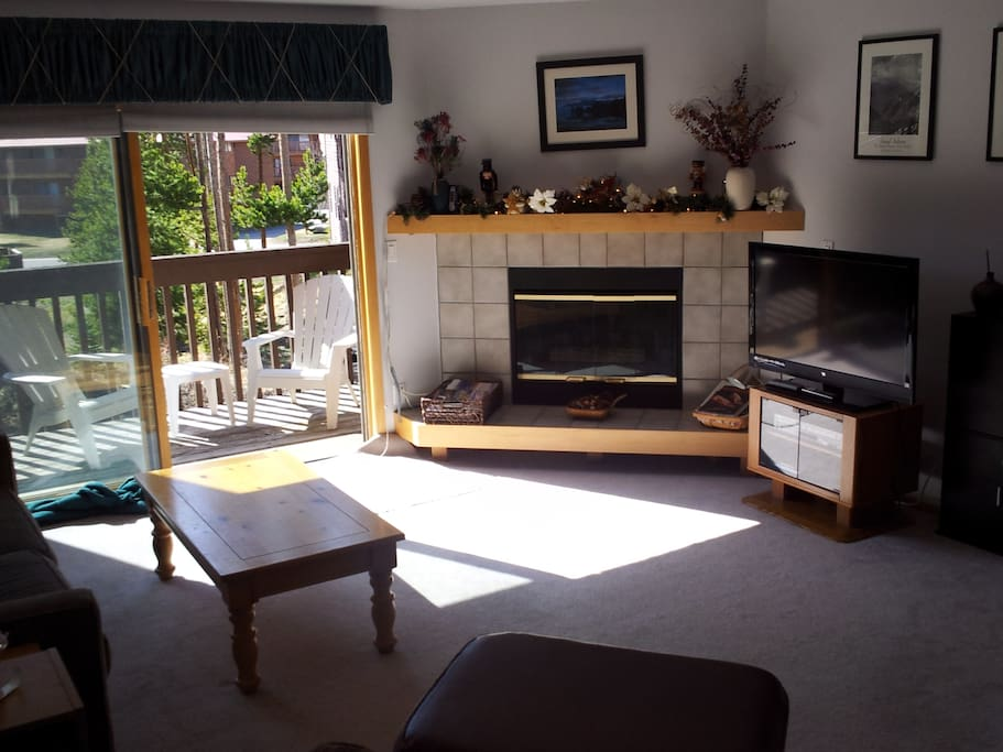 Gas FIreplace, Deck with gas grill, TV & entertainment