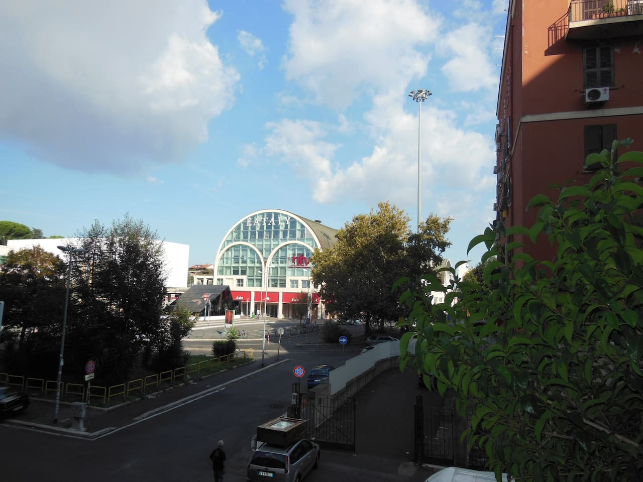 view of Eataly, Rome's famous gourmet supermarket
