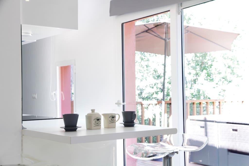 Beautiful guest house inside a vila