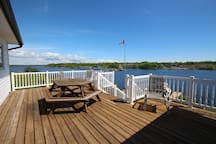 Sun and shade deck.  There is a deck with a roof cover as well