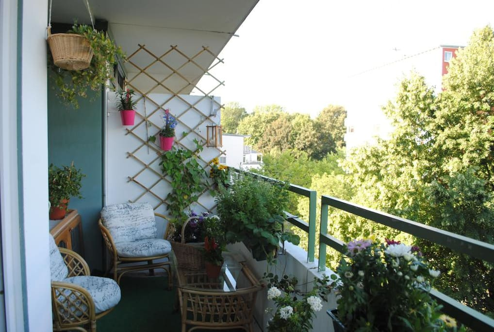 our balcony in summer