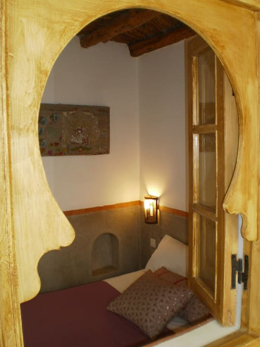 """our room """"tlata"""" view from the inner corridor"""