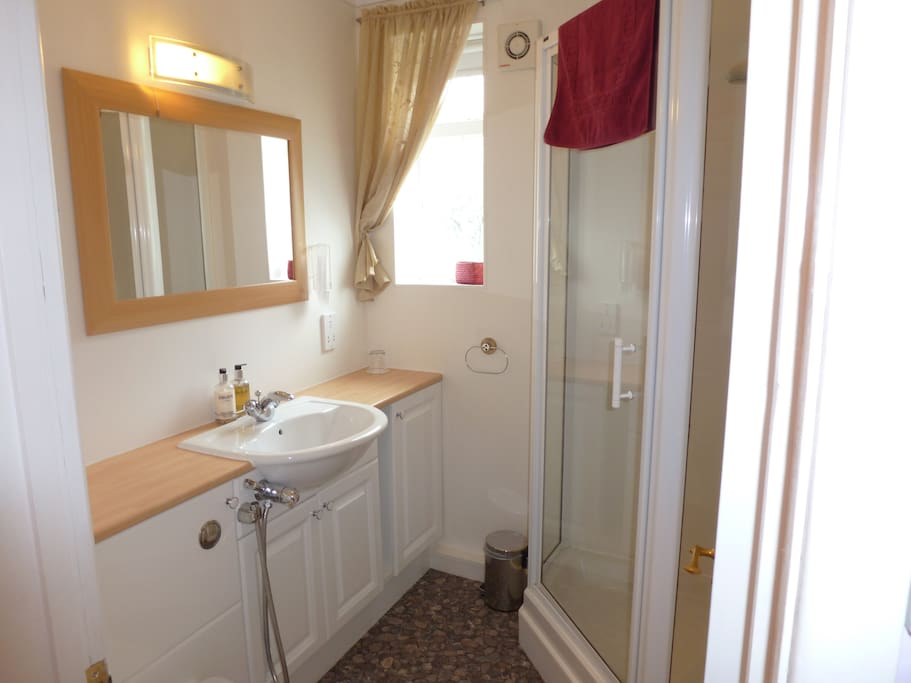 En suite shower room for triple/family room