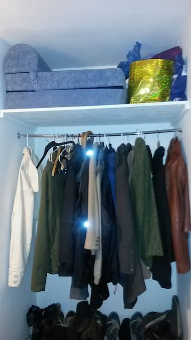 Entry with a coat closet