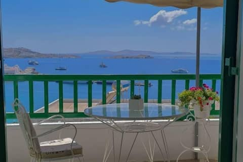 Garden house of mykonos with amazing view