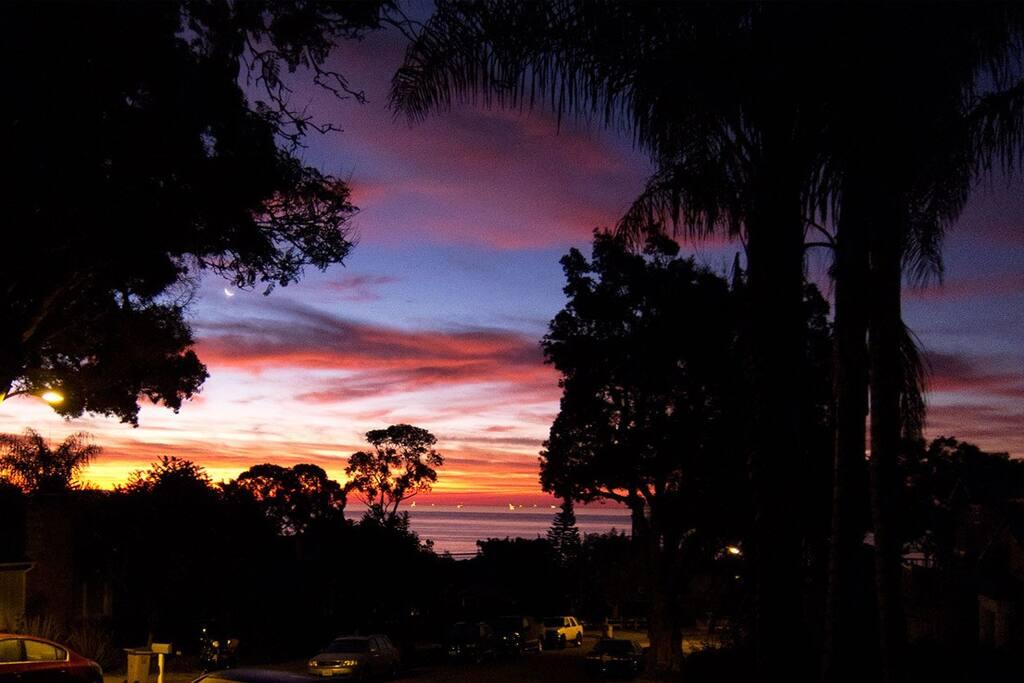 Sunrise view.