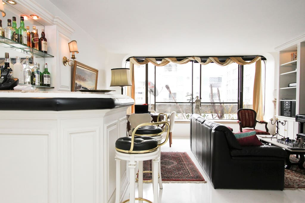 The apartment has been recetly refurbished to high standards, and it is clean, sleek with white and soft walls and lovely floorings.