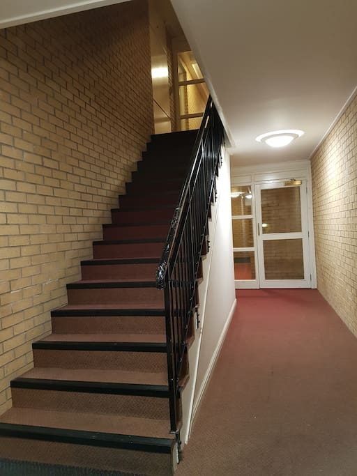 Stairs up to the Flat