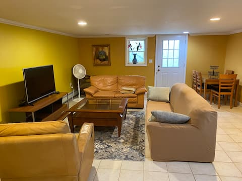 Great Neck NY, 1 BR private basement apartment