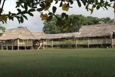 Home at edge of the Amazon River