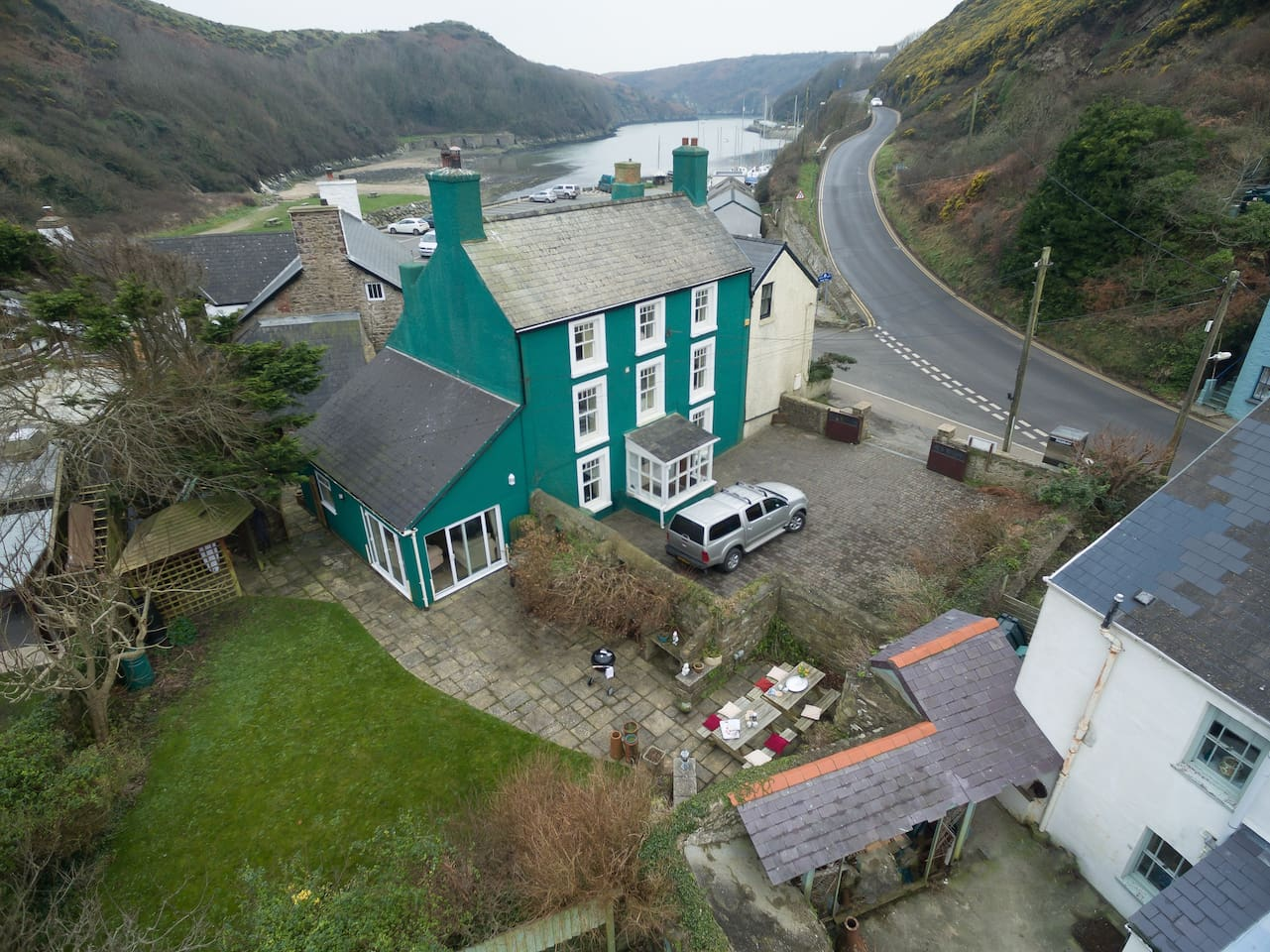 Llys Aber from above