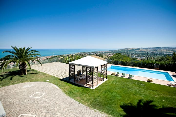 VILLA BELLA with a beautiful view
