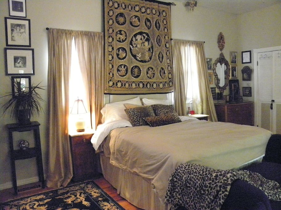 Your art filled suite with queen bed