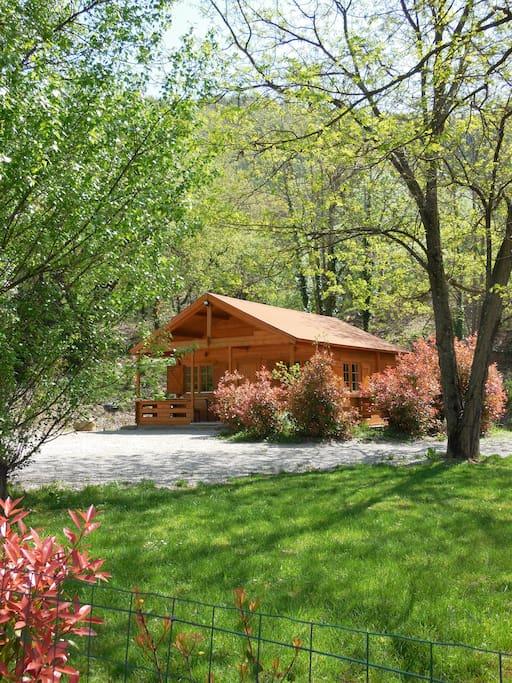 Le Chalet Bois De Celio > Le Chalet bois de Célio Chalets for Rent in Coux, Auvergne Rh u00f4ne Alpes, France