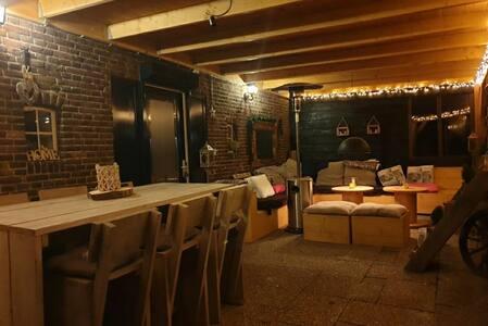 Authentic Farmhouse with veranda & firetable