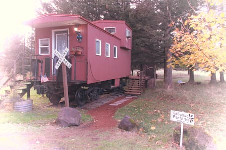 Little Red Caboose with a view - Troutdale