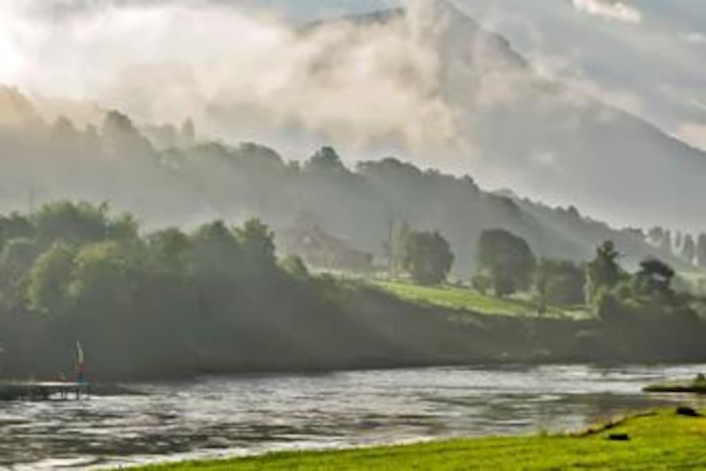 Salmon fishing in the Gloppen River