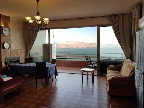 Unikátní byt s dobrým výhledem na Galilejské moře