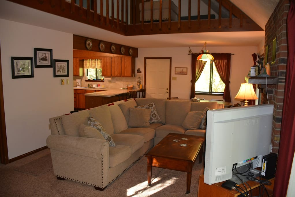 Family Room with fireplace on Main Floor