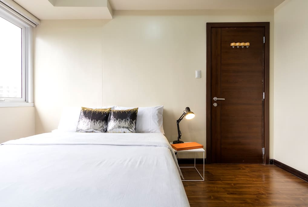 Our big suite has separate bedroom and living room areas. This is definitely no studio!