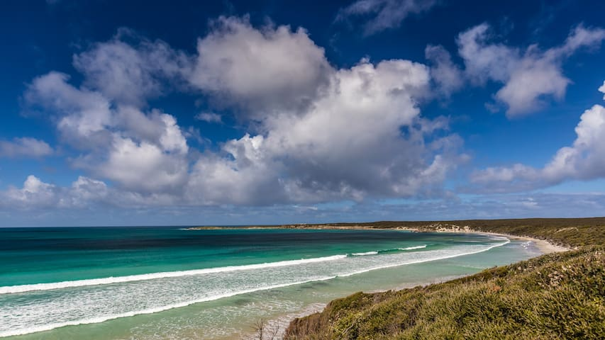 Just a five minute stroll to Vivonne Bay - voted Australia's best beach.  No sea views from the cottage. Photo: Quentin Chester