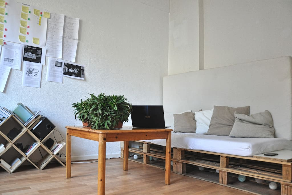 We built our apartment completely out of recycled materials