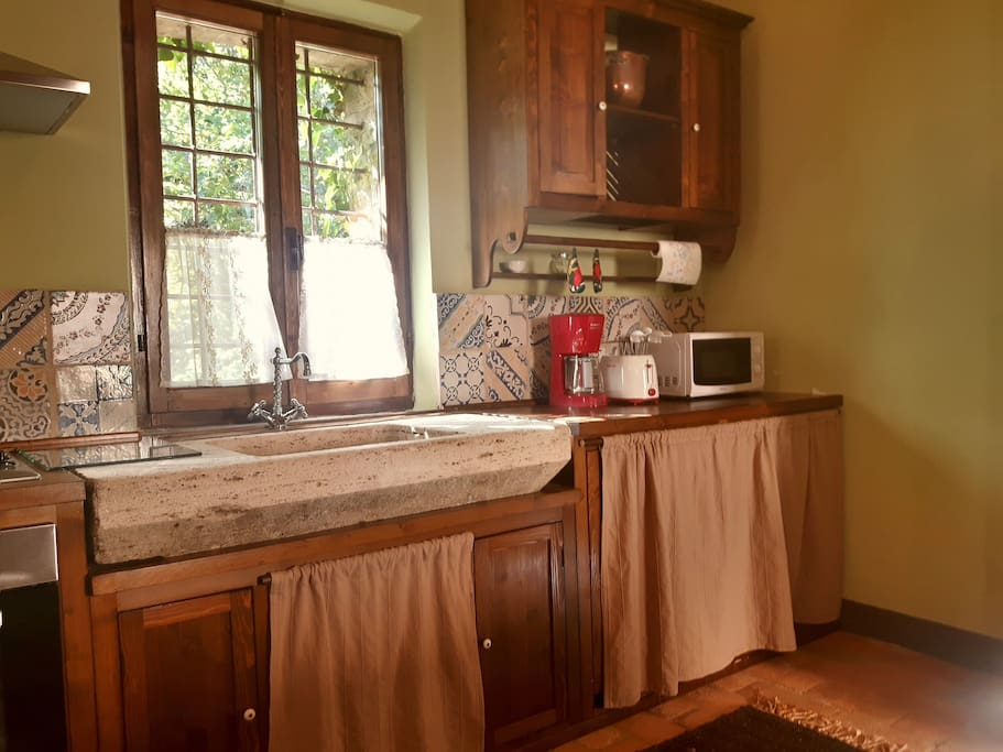 Apartment 'Fienile'. In total there are 3 fully equipped kitchens