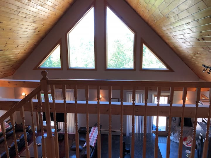 Log Sided Bridgton Home Close to Skiing and Lakes