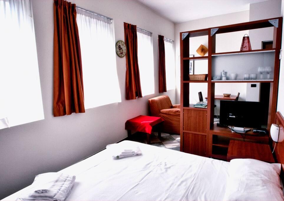Zona notte con letto singolo o doppio secondo le esigenze
