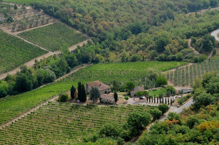 Weiter Blick über Chianti Hügel - Radda In Chianti