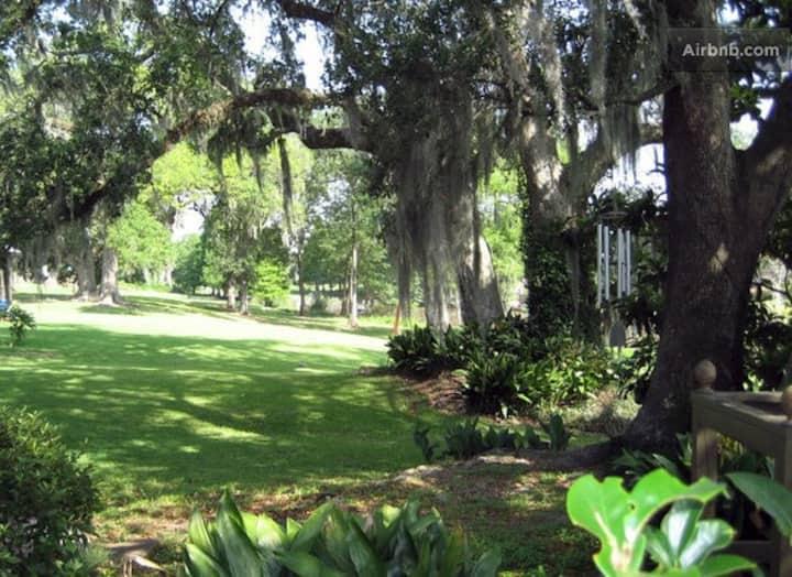 Bayou Blues Paradise Getaway Cottage on 1 acre