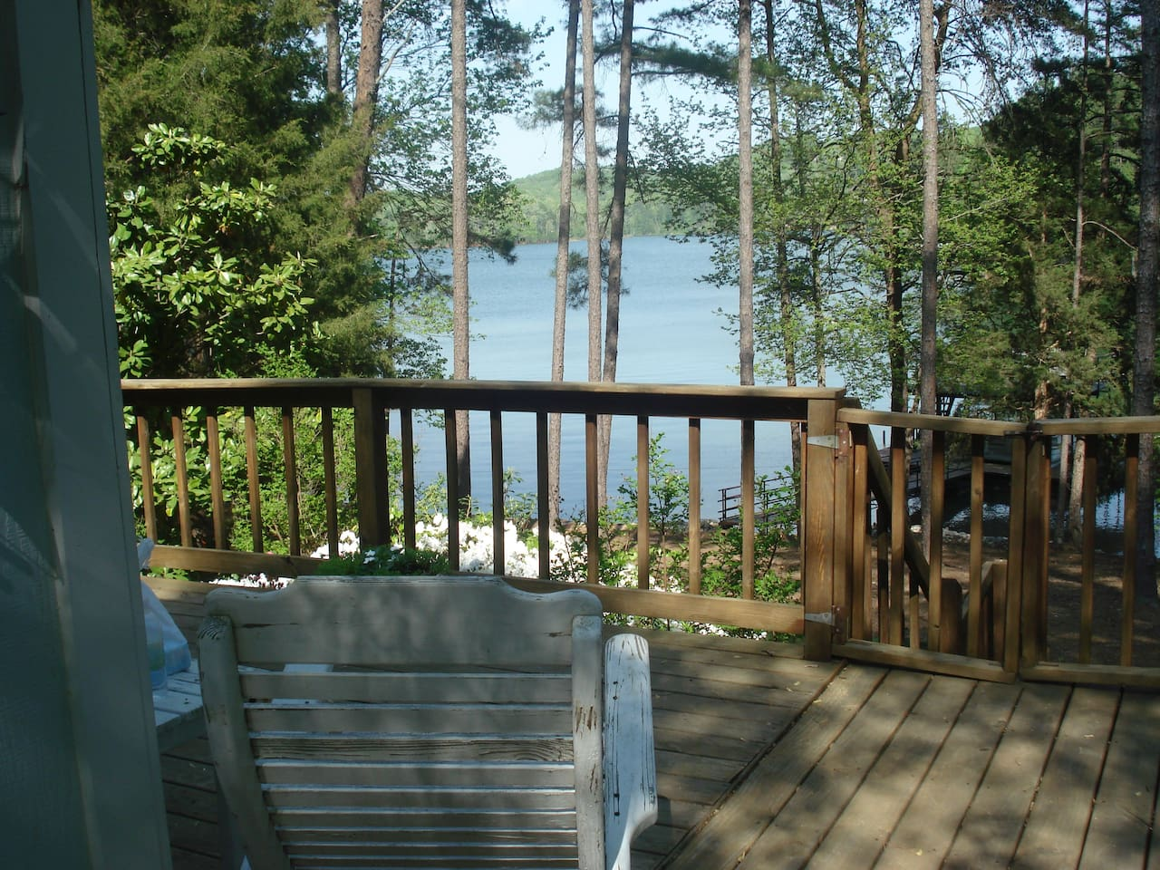 image cabin on georgia rentals lake hartwell bed hotels ha resorts in yards and from area property peaceful conservation home the s deal beach luxury cabins