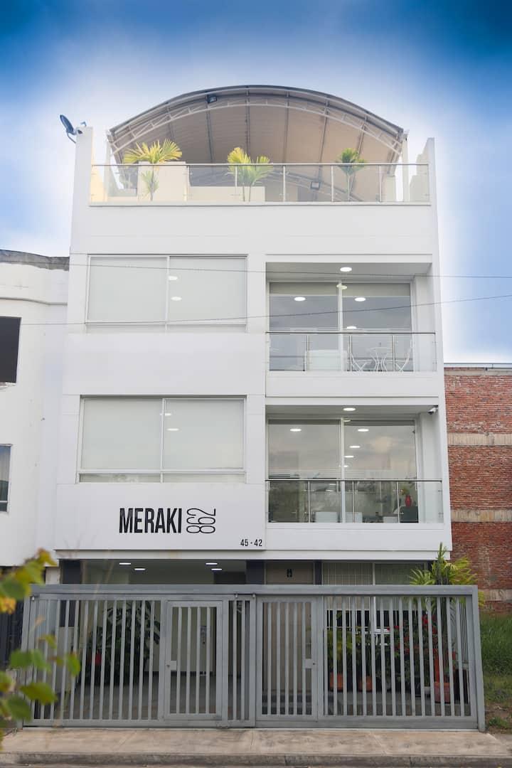 MERAKI- APARTAHOTEL EXCLUSIVO/ MODERNO/ SEGURO 201