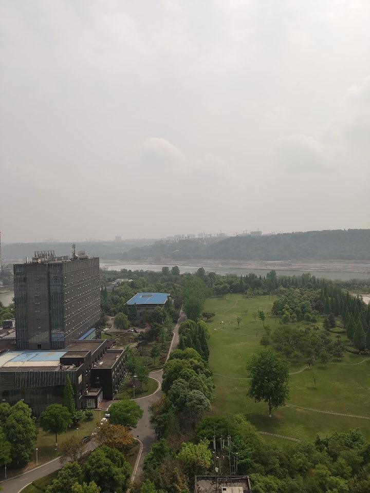 东坡湿地公园江景房