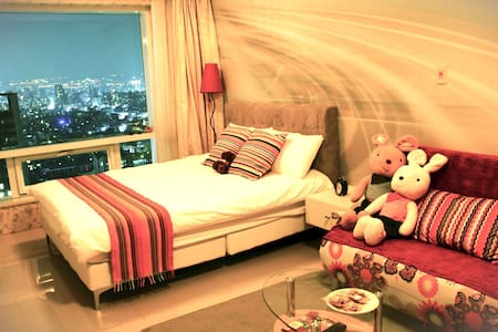 Seeing Taichung with the great view (sweet) - West District - Apartament