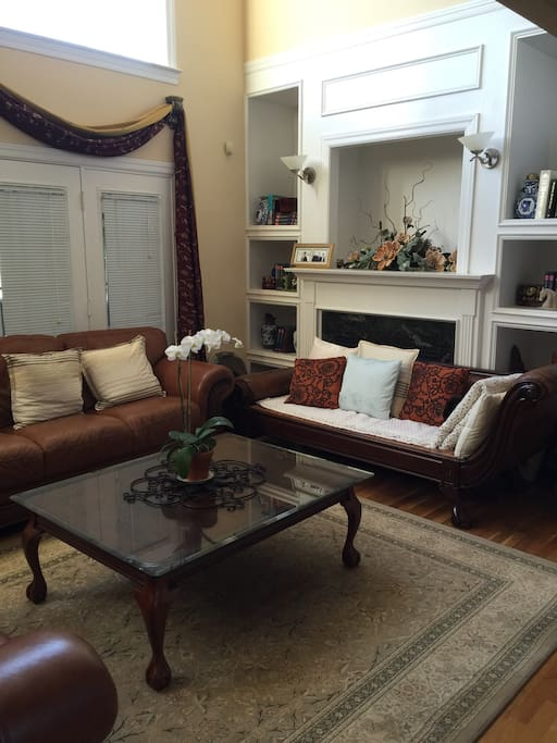 Shared living room with comfortable sofas
