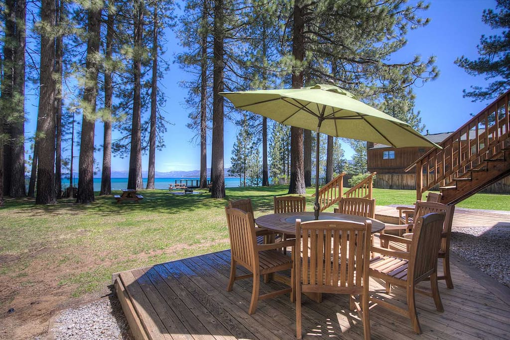 Pavati lakefront private pier fireworks view for Rental cabins in south lake tahoe