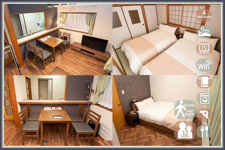 [Precaution]10mins from the station! 12 pp OK★wifi