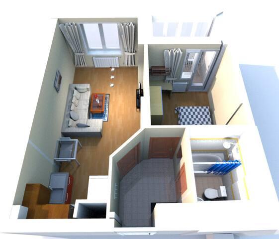 Квартира формата 1+ в экологическом центре Нижнего