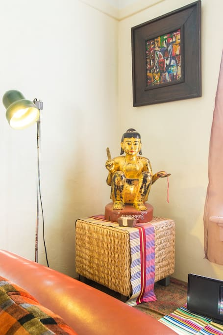 Antique gold Buddha statue