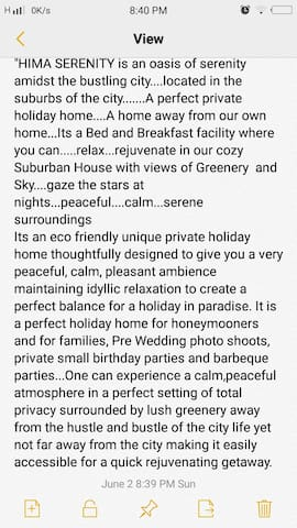 Hima Serenity ( A Private Holiday Home)