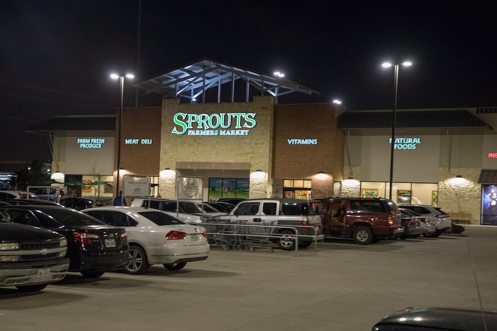 Sprouts farmer's market is a block away.