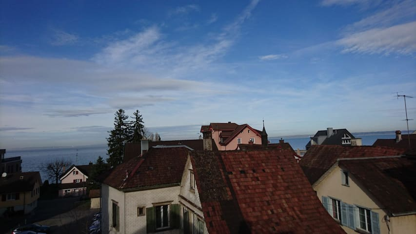 Geräumige Ferienwohnung direkt am Bodensee