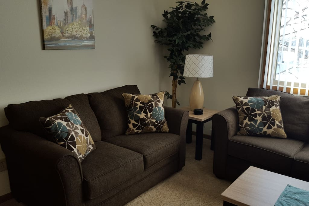 New furnishings give you plenty of room to relax!  You'll also find a 40 in flat screen tv with cable service.