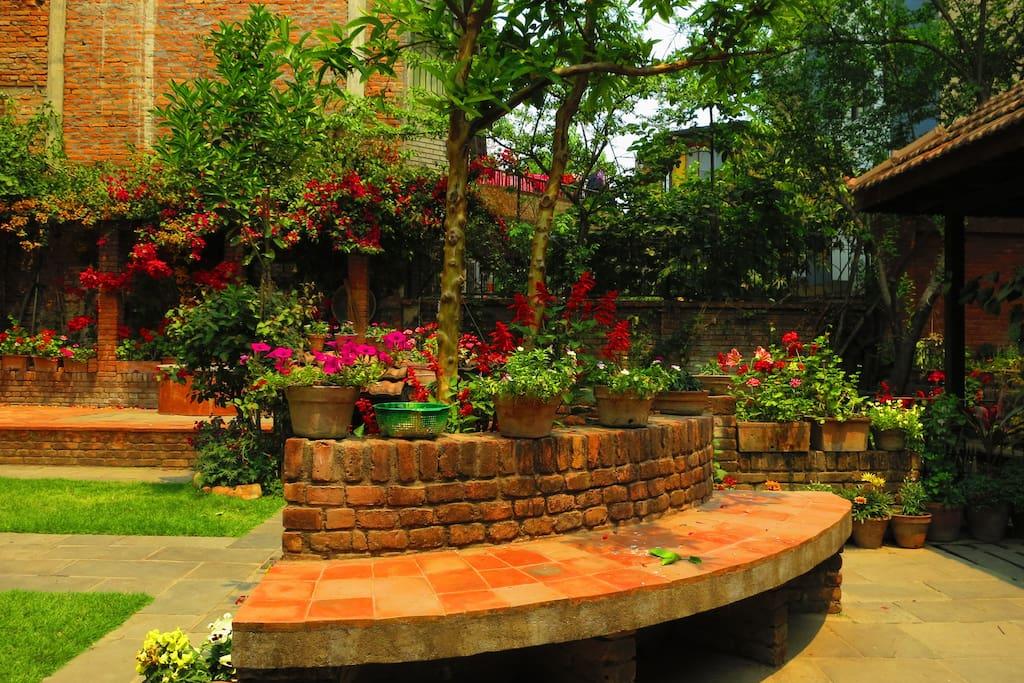 sitting spaces in garden...
