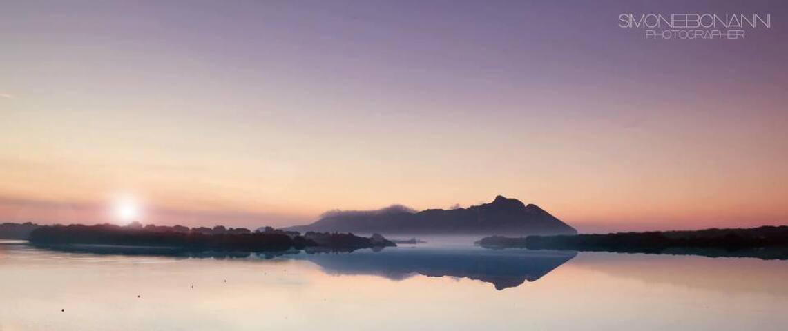 il monte circeo dal lago di paola