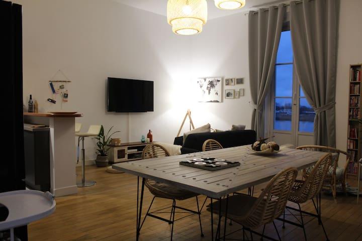 Appartement vue imprenable sur la Loire !!!