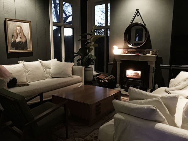 Comfy, chic winter retreat.