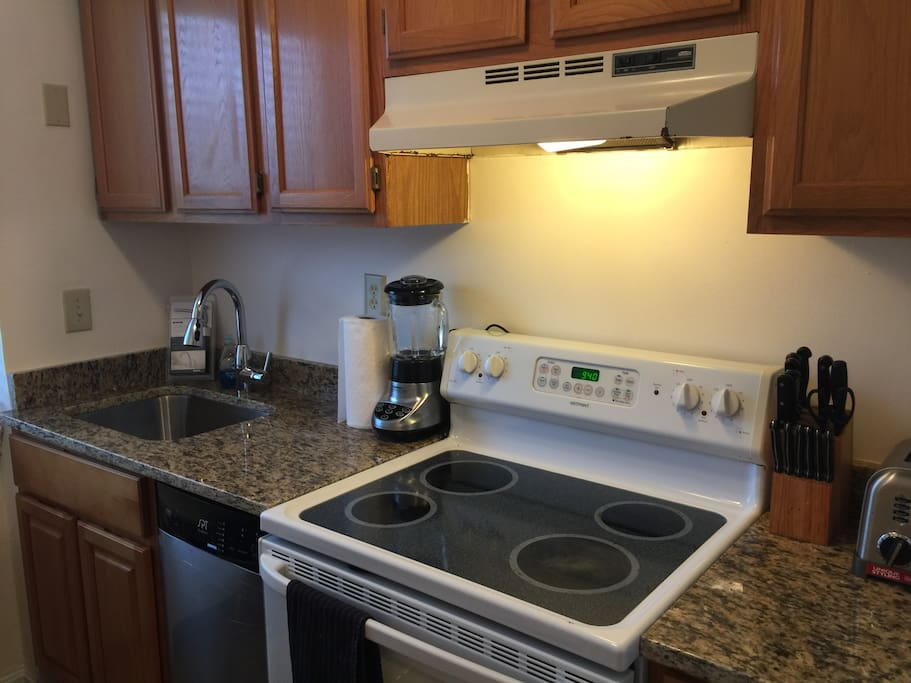 The kitchen has everything you want! New granite, cabinets & d/w 8/2017.